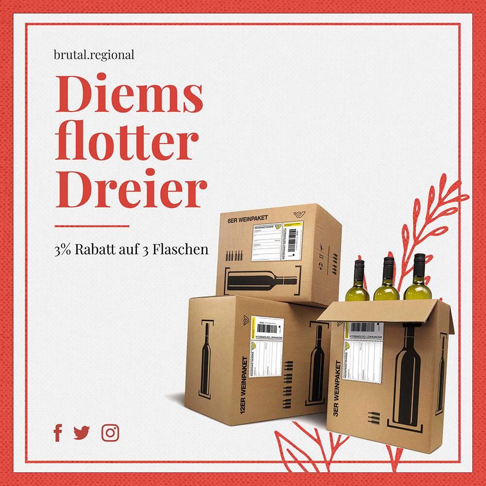 diems flotter Dreier Weinpaket